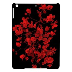 Dark Red Flower Apple Ipad Air Hardshell Case by dflcprints