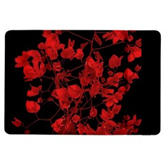 Dark Red Flower Apple Ipad Air Flip Case by dflcprints