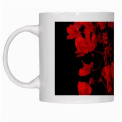 Dark Red Flower White Coffee Mug by dflcprints