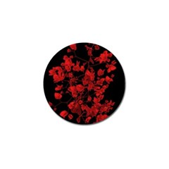 Dark Red Flower Golf Ball Marker 4 Pack by dflcprints
