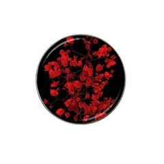 Dark Red Flower Golf Ball Marker 10 Pack (for Hat Clip) by dflcprints