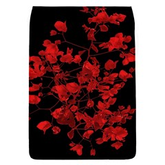 Dark Red Flower Removable Flap Cover (small) by dflcprints