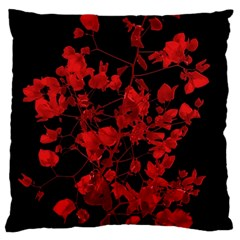 Dark Red Flower Standard Flano Cushion Case (two Sides) by dflcprints