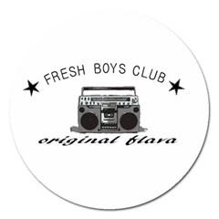 Original Fresh Magnet 5  (round) by freshboysclub