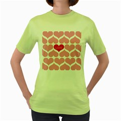 One Love Women s T Shirt (green) by Kathrinlegg