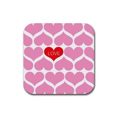 One Love Drink Coaster (square) by Kathrinlegg
