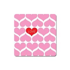 One Love Magnet (square) by Kathrinlegg