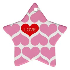 One Love Star Ornament (two Sides) by Kathrinlegg