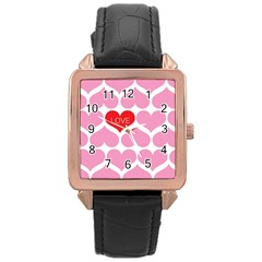 One Love Rose Gold Leather Watch  by Kathrinlegg