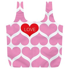 One Love Reusable Bag (xl) by Kathrinlegg