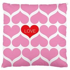 One Love Large Flano Cushion Case (one Side) by Kathrinlegg