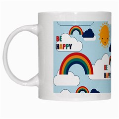 Be Happy Repeat White Coffee Mug by Kathrinlegg