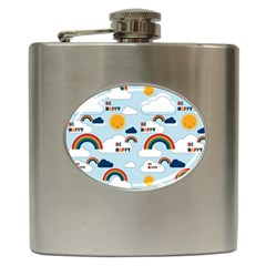 Be Happy Repeat Hip Flask by Kathrinlegg