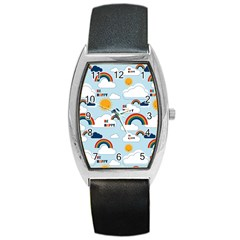 Be Happy Repeat Tonneau Leather Watch by Kathrinlegg