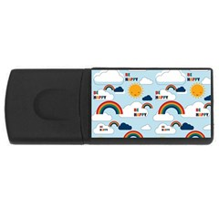 Be Happy Repeat 4gb Usb Flash Drive (rectangle) by Kathrinlegg