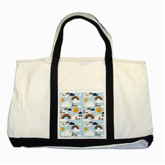 Be Happy Repeat Two Toned Tote Bag by Kathrinlegg