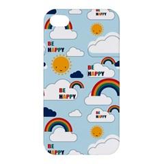 Be Happy Repeat Apple Iphone 4/4s Premium Hardshell Case by Kathrinlegg