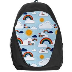 Be Happy Repeat Backpack Bag by Kathrinlegg