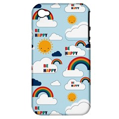 Be Happy Repeat Apple Iphone 4/4s Hardshell Case (pc+silicone) by Kathrinlegg
