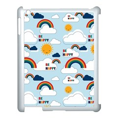 Be Happy Repeat Apple Ipad 3/4 Case (white) by Kathrinlegg