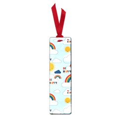Be Happy Repeat Small Bookmark by Kathrinlegg