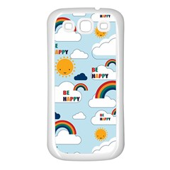 Be Happy Repeat Samsung Galaxy S3 Back Case (white) by Kathrinlegg