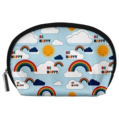 Be Happy Repeat Accessory Pouch (large) by Kathrinlegg