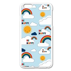 Be Happy Repeat Apple Iphone 6 Plus Enamel White Case by Kathrinlegg