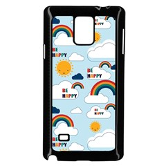 Be Happy Repeat Samsung Galaxy Note 4 Case (black) by Kathrinlegg