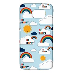 Be Happy Repeat Samsung Galaxy S6 Hardshell Case  by Kathrinlegg