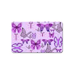 Purple Awareness Butterflies Magnet (name Card) by FunWithFibro