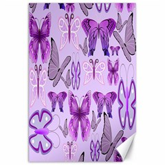 Purple Awareness Butterflies Canvas 20  X 30  (unframed) by FunWithFibro