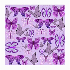 Purple Awareness Butterflies Glasses Cloth (medium, Two Sided) by FunWithFibro