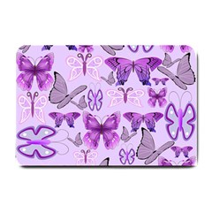 Purple Awareness Butterflies Small Door Mat by FunWithFibro