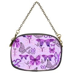 Purple Awareness Butterflies Chain Purse (two Sided)  by FunWithFibro