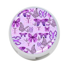 Purple Awareness Butterflies 4 Port Usb Hub (two Sides) by FunWithFibro