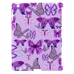 Purple Awareness Butterflies Apple Ipad 3/4 Hardshell Case (compatible With Smart Cover) by FunWithFibro