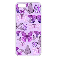 Purple Awareness Butterflies Apple Iphone 5 Seamless Case (white) by FunWithFibro