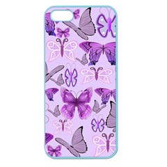 Purple Awareness Butterflies Apple Seamless Iphone 5 Case (color) by FunWithFibro