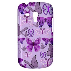 Purple Awareness Butterflies Samsung Galaxy S3 Mini I8190 Hardshell Case by FunWithFibro