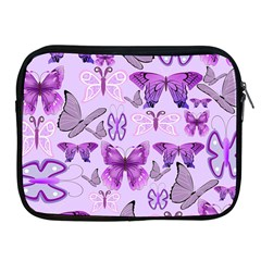 Purple Awareness Butterflies Apple Ipad Zippered Sleeve by FunWithFibro