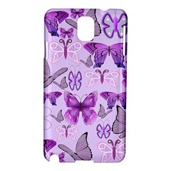 Purple Awareness Butterflies Samsung Galaxy Note 3 N9005 Hardshell Case by FunWithFibro