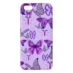 Purple Awareness Butterflies Iphone 5s Premium Hardshell Case by FunWithFibro