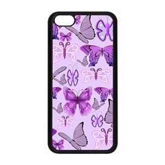 Purple Awareness Butterflies Apple Iphone 5c Seamless Case (black) by FunWithFibro