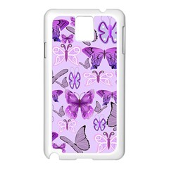 Purple Awareness Butterflies Samsung Galaxy Note 3 N9005 Case (white) by FunWithFibro
