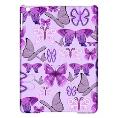 Purple Awareness Butterflies Apple Ipad Air Hardshell Case by FunWithFibro