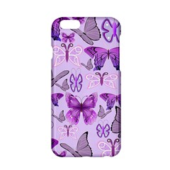 Purple Awareness Butterflies Apple Iphone 6 Hardshell Case by FunWithFibro
