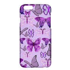 Purple Awareness Butterflies Apple Iphone 6 Plus Hardshell Case by FunWithFibro