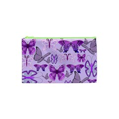 Purple Awareness Butterflies Cosmetic Bag (xs) by FunWithFibro