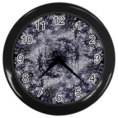 Nature Collage Print  Wall Clock (black) by dflcprints